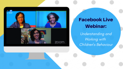 """Children's Authority invited ParentingTT to participate in an online webinar titled """"Understanding and Working With Children's Behaviour."""" Click the image to watch the replay!"""